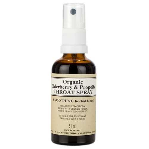 Organic Elderberry and Propolis Throat Spray 50ml photo